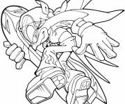 Coloring pages Sonic X runs away