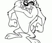 Coloring pages Angry Taz Drawing
