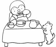Coloring pages Charley and Mimmo in black and white