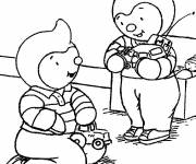 Coloring pages Charley and Paulie in color