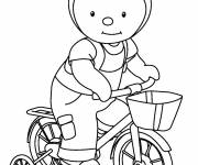 Coloring pages Charley on his bike