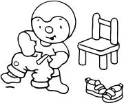 Coloring pages Charley wears his pants
