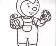 Coloring pages Cartoon Charley and Mimmo