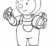 Coloring pages Charley and his colorful toys