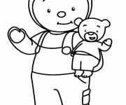 Coloring pages Charley and Mimmo to color