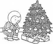 Coloring pages Charley and the Christmas tree
