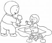 Coloring pages Charley plays with Grandpa