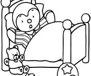 Coloring pages Charley wakes up easy