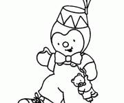 Coloring pages Charley wears a drawing hat
