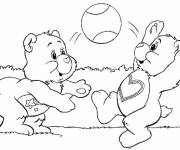 Coloring pages Bears are having fun