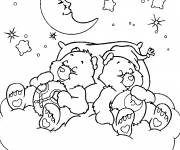 Coloring pages Bears are sleeping