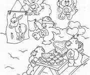 Coloring pages Bears eating