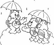 Coloring pages Bears laughing