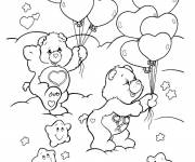 Coloring pages Bears play together