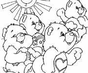 Coloring pages Happy care bears