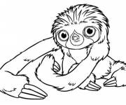Coloring pages Belt croods opening their eyes online