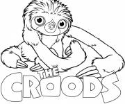 Coloring pages Cartoon belt croods