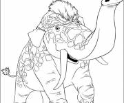 Coloring pages Colored animal croods