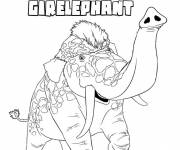 Coloring pages Colored Girelephant croods