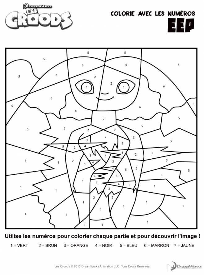 Free coloring and drawings Croods Drawing Coloring page