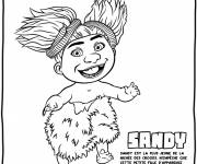 Free coloring and drawings Croods Sandy the wild child drawing Coloring page