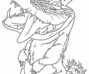 Coloring pages Douglas croods drawing