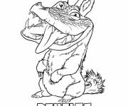 Coloring pages Douglas croods sticking out their tongue