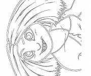 Coloring pages Eep croods watching you