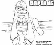 Coloring pages Funny Bapoing croods