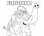 Coloring pages Girelephant animal croods