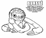 Free coloring and drawings Lazy Brewed Croods Coloring page