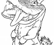 Free coloring and drawings Monster drawing croods Coloring page