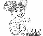 Coloring pages Sandy croods in color