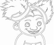 Coloring pages Sandy croods smiling