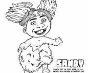 Coloring pages Sandy the little girl croods