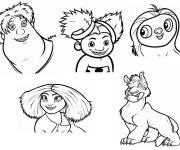 Coloring pages The character croods