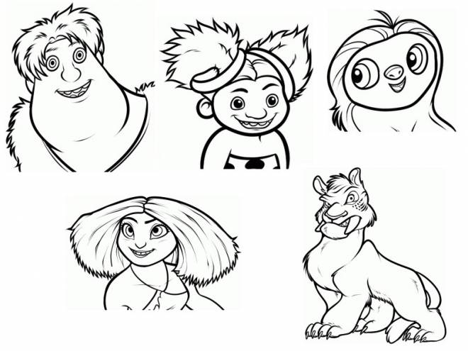 Free coloring and drawings The character croods Coloring page