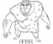 Coloring pages The croods drawing grug