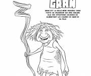 Coloring pages The croods Gran the old woman