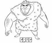 Coloring pages The Croods Grug the Papa Hen Easy