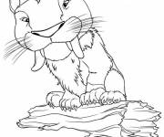 Coloring pages The croods the tiger drawing