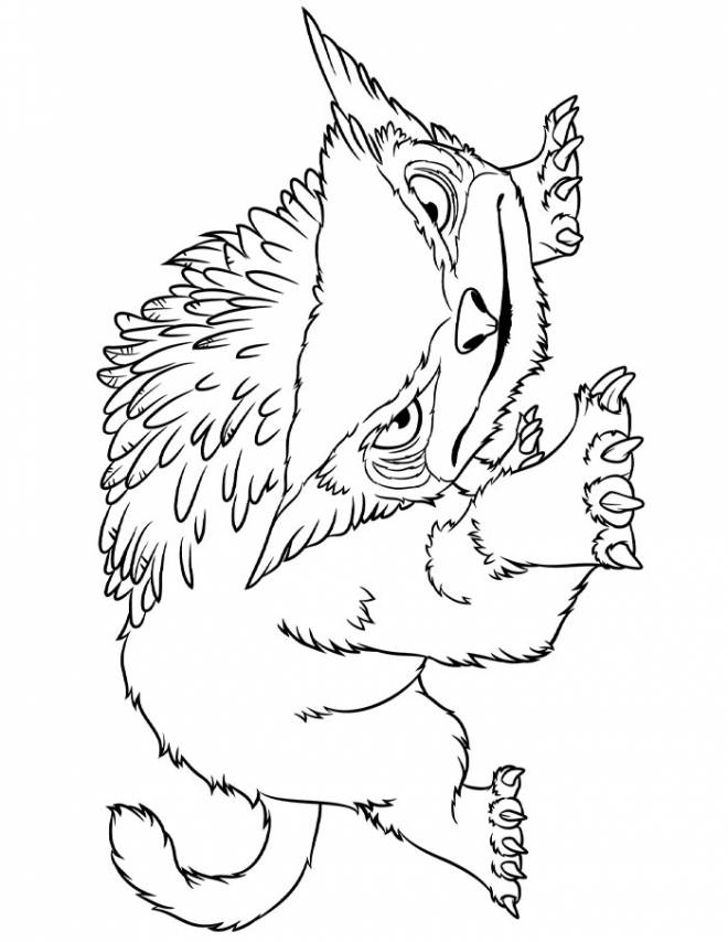 Free coloring and drawings The croods to download Coloring page