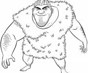 Coloring pages The Grug the hunter croods