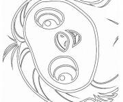 Coloring pages The humorous Belt croods