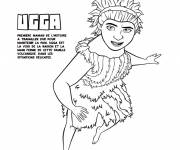 Coloring pages The reasonable Ugga croods