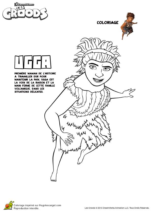 Free coloring and drawings The reasonable Ugga croods Coloring page