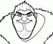 Coloring pages The serious Grug croods