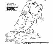 Coloring pages The terrifying parrot-eating croods