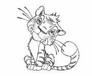 Free coloring and drawings Tiger croods Coloring page