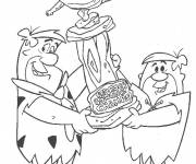 Coloring pages Drawing of The Flintstones to print